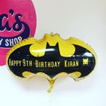 Batman Themed  Personalised Balloon helium filled